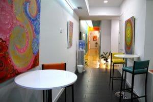 Recepción de nuestro centro de psicología en el Retiro (Madrid)